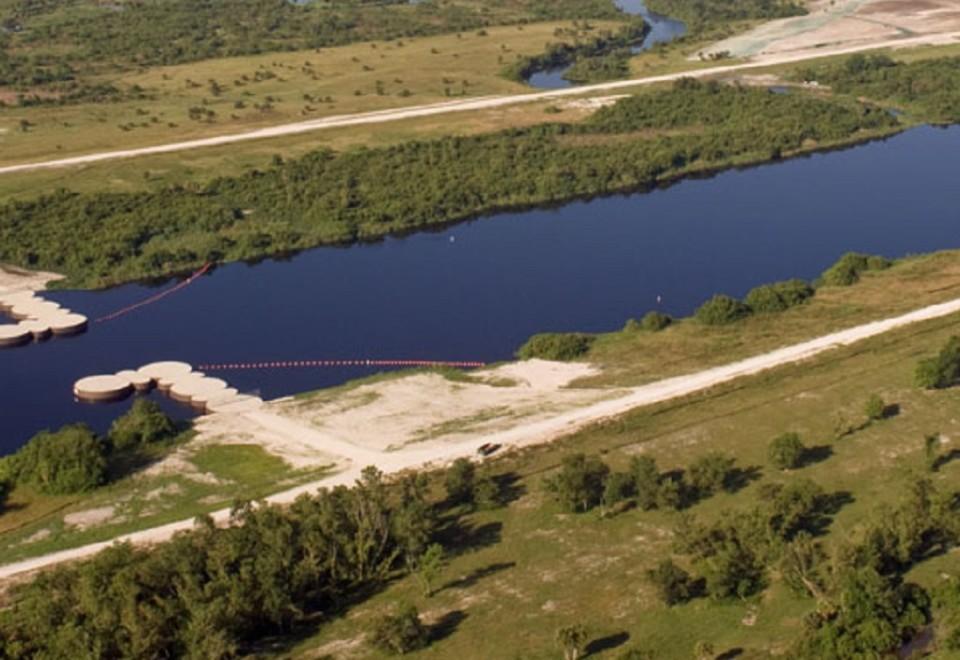 <br>Water Control Structure S-65E</br>